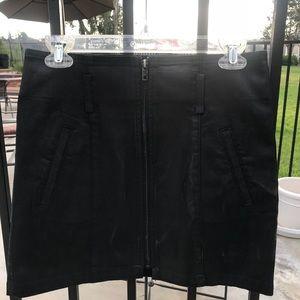 Black Wax Skirt